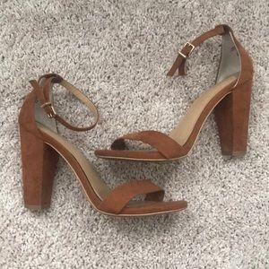 Express suede heels